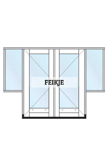 hoofdafbeelding openslaande tuindeuren met hoge zijlichten model Feikje